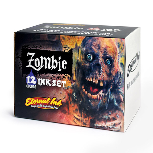 iTC Tattoo et Piercing - Encre ETERNAL, stérile Set Zombie 12pcs 1OZ/29ml