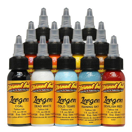 iTC Tattoo et Piercing - Encre ETERNAL, stérile Set Eugene Knysh Levgen 12pcs 1OZ/29ml