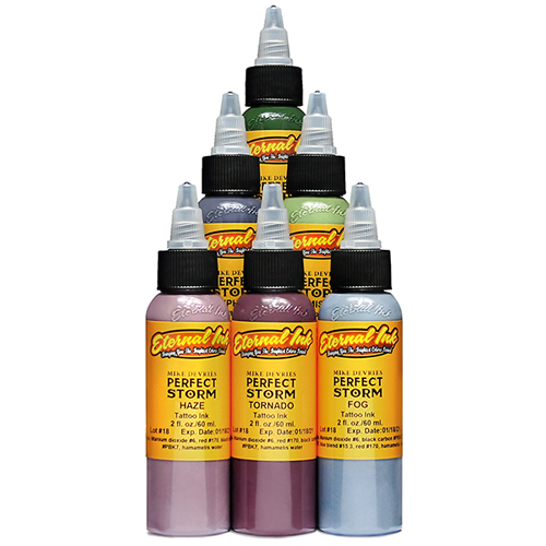 iTC Tattoo et Piercing - Encre ETERNAL, stérile Set Perfect Storm Mike DeVries 6pcs 1OZ/29ml
