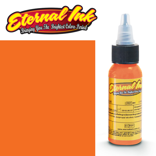 iTC Tattoo et Piercing - Encre ETERNAL, stérile, BRIGHT ORANGE