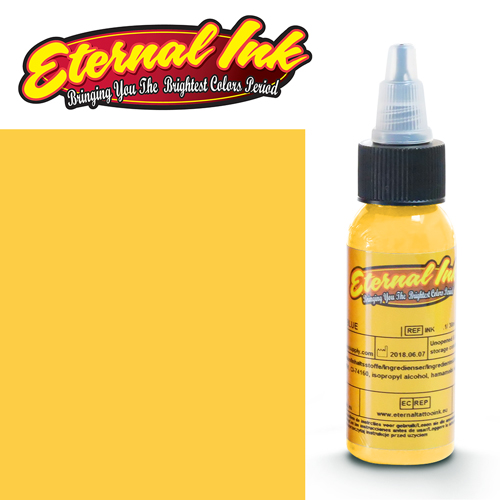 iTC Tattoo et Piercing - Encre ETERNAL, stérile, 1OZ/29ml BRIGHT YELLOW