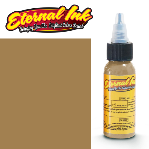 iTC Tattoo et Piercing - Encre ETERNAL, stérile, 1OZ/29ml DARK OCHRE