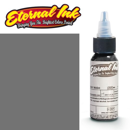 iTC Tattoo et Piercing - Encre ETERNAL, stérile, 1OZ/29ml DARK GRAY WASH