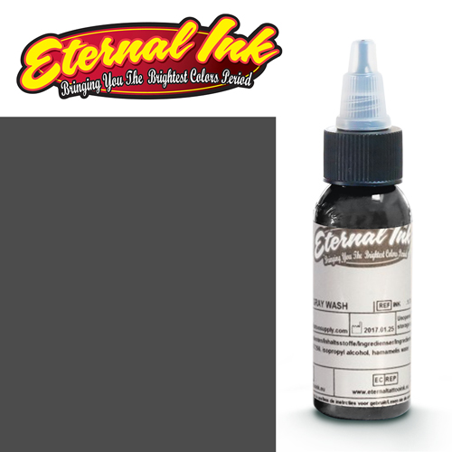 iTC Tattoo et Piercing - Encre ETERNAL, stérile, 1OZ/29ml DARKER GRAY WASH