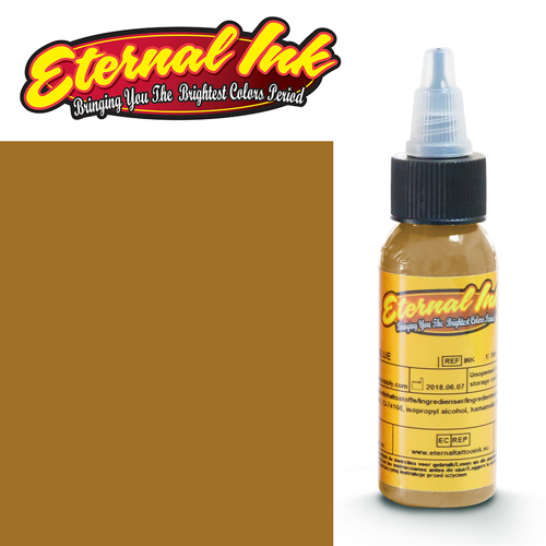 iTC Tattoo et Piercing - Encre ETERNAL, stérile, 1OZ/29ml OLD GOLD