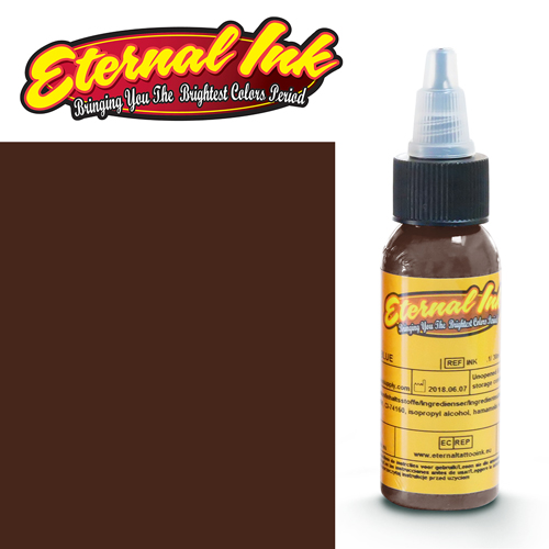 iTC Tattoo et Piercing - Encre ETERNAL, stérile, 1OZ/29ml ASH BROWN