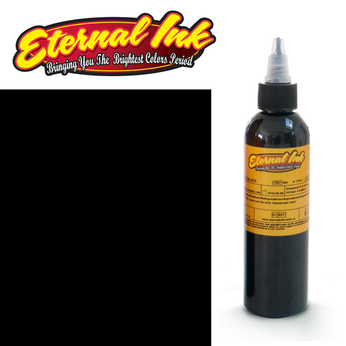 iTC Tattoo et Piercing - Encre ETERNAL, stérile, 4OZ/118ml BLACKBIRD