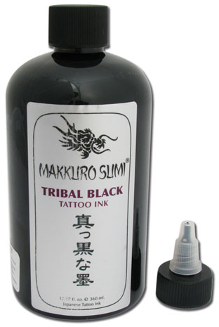 Encre stérile Makkuro Sumi. TRIBAL BLACK. 360ml