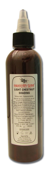 iTC Tattoo et Piercing - Encre stérile Makkuro Sumi Light Chestnut Shading 118ml