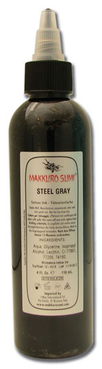 iTC Tattoo et Piercing - Encre stérile Makkuro Sumi Steel Gray 120ml
