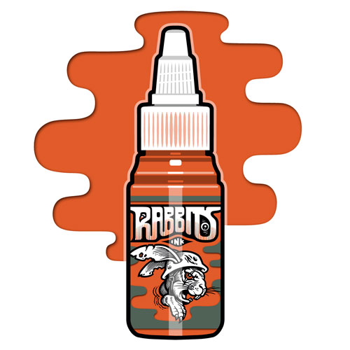 iTC Tattoo et Piercing - Encre RABBITS stérile 35 ml, coloris Orange