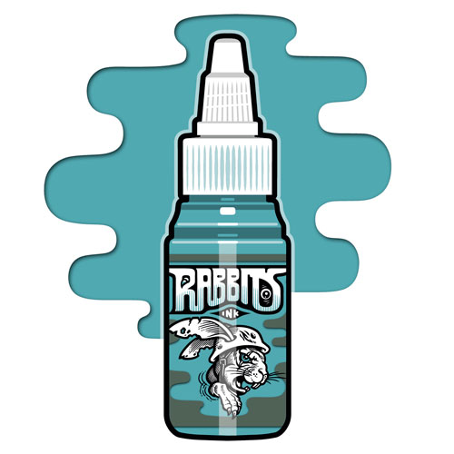 iTC Tattoo et Piercing - Encre RABBITS stérile 35 ml, coloris Smoke Blue II R