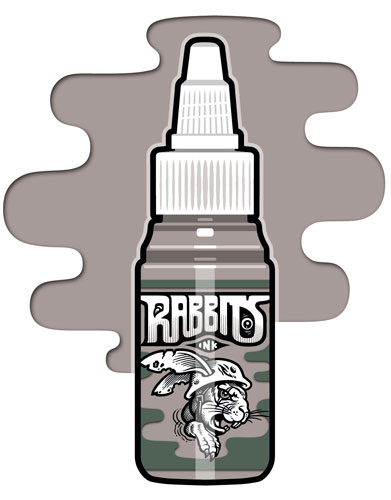 iTC Tattoo et Piercing - Encre RABBITS stérile 35 ml, coloris Presumed Dead