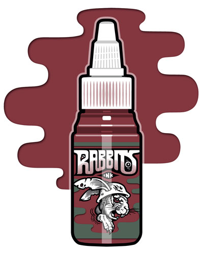 iTC Tattoo et Piercing - Encre RABBITS stérile 35 ml, coloris Light Red Wine