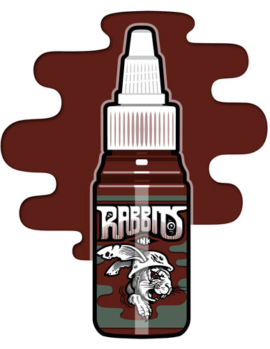iTC Tattoo et Piercing - Encre RABBITS stérile 35 ml, coloris Robi Pena's Dark Blood