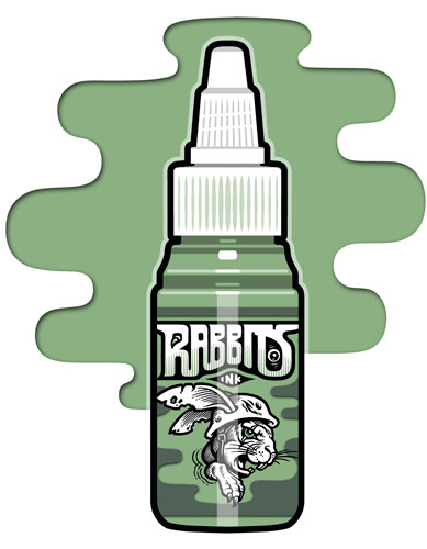 iTC Tattoo et Piercing - Encre RABBITS stérile 35 ml, coloris Switched-Off Mint