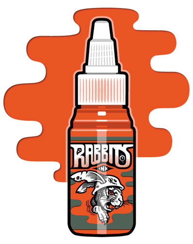 Encre RABBITS stérile 35 ml, coloris Sunrise Orange