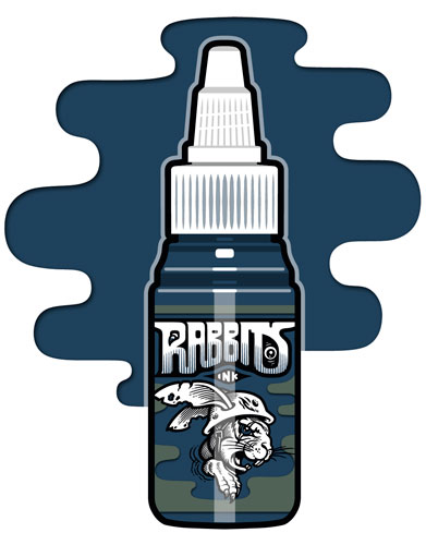 iTC Tattoo et Piercing - Encre RABBITS stérile 35 ml, coloris Prussian Blue