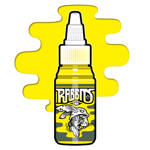 Encre RABBITS stérile 35 ml, coloris Basic Yellow