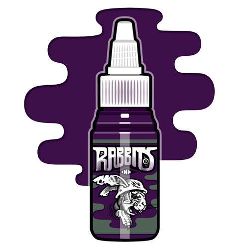 iTC Tattoo et Piercing - Encre RABBITS stérile 35 ml, coloris Balls to the Wall Purple