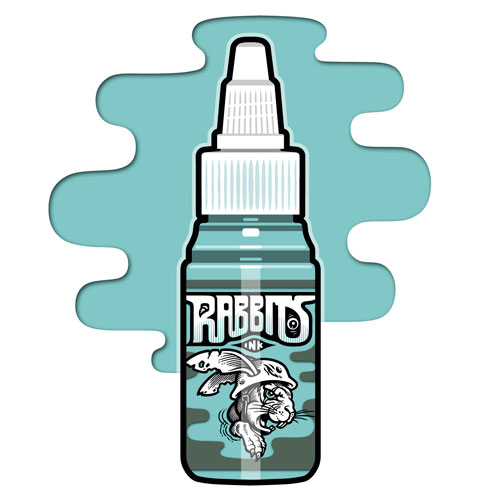 iTC Tattoo et Piercing - Encre RABBITS stérile 35 ml, coloris Turquoise Chill