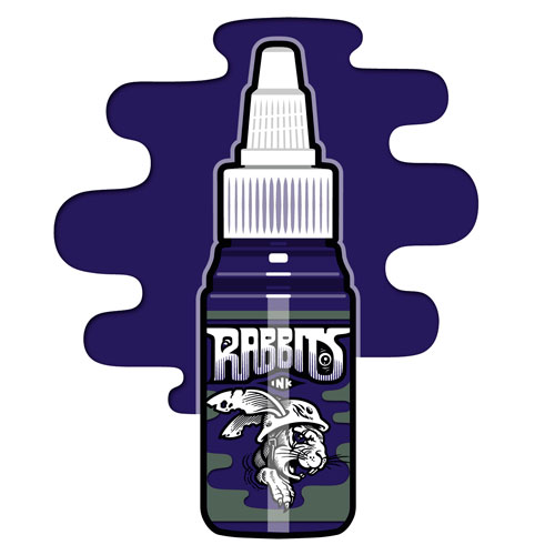 iTC Tattoo et Piercing - Encre RABBITS stérile 35 ml, coloris Karsten Dark Blue