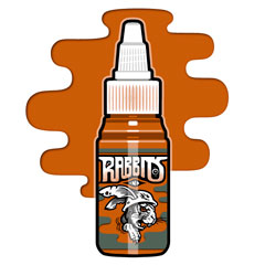 iTC Tattoo et Piercing - Encre RABBITS stérile 35 ml, coloris Karsten Orange
