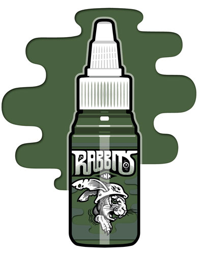 iTC Tattoo et Piercing - Encre RABBITS stérile 35 ml, coloris Old Sergeants Dirty Pants