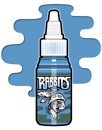 iTC Tattoo et Piercing - Encre RABBITS stérile 35 ml, coloris PTs Blue Eyes