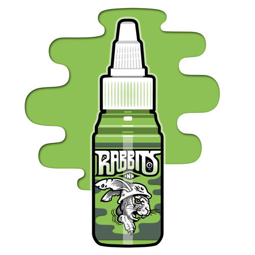 Encre RABBITS stérile 35 ml, coloris Parrot Green