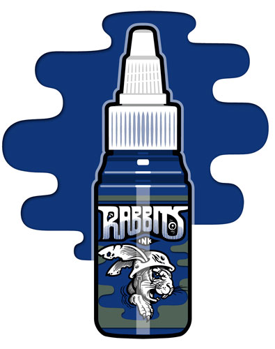 iTC Tattoo et Piercing - Encre RABBITS stérile 35 ml, coloris Monday Blue