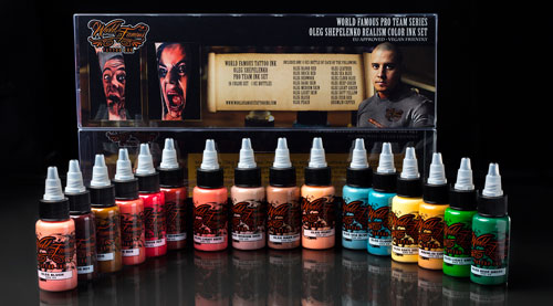iTC Tattoo et Piercing - Encres stériles World Famous Ink, O.Shepelenko 16 Couleurs 30ml