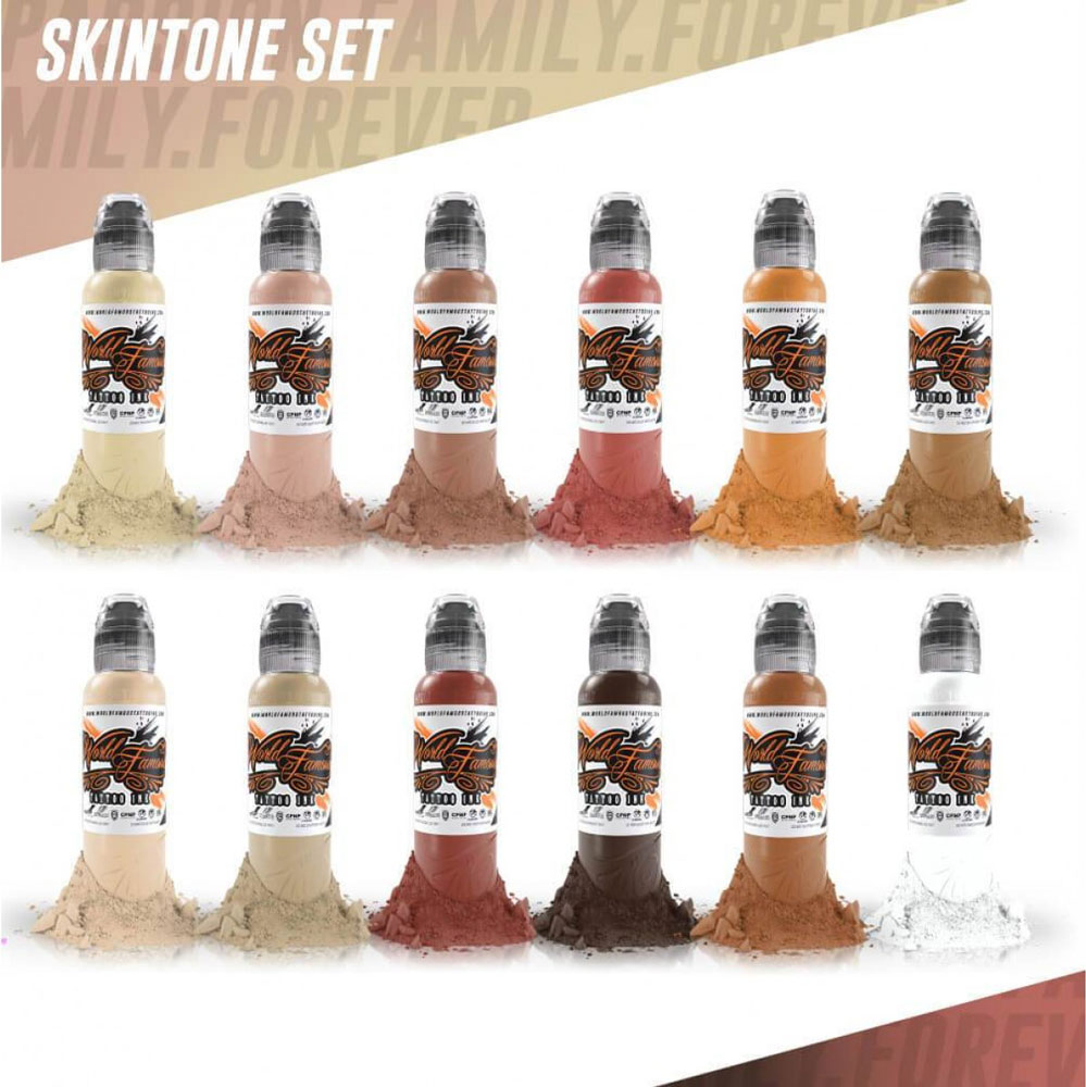 iTC Tattoo et Piercing - World Famous Skintone Ink Set 12x30ml