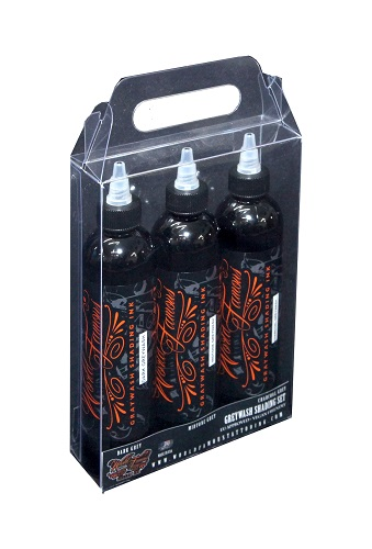 iTC Tattoo et Piercing - Encres stériles World Famous Ink,Charcoal Greywash 3 nuances en 120ml
