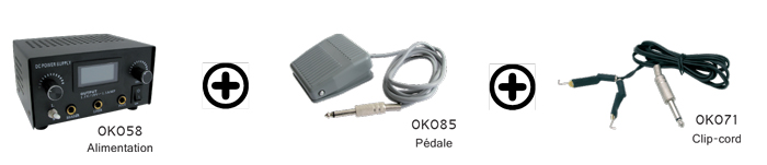 Kit Alimentation Digitale 0K058 + pédale 0K085 + Clip Cord 0K071