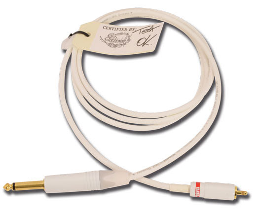 ELEKTRONINK Clip-cord THE WHITE Luxe Jack 6,35 droit RCA droite