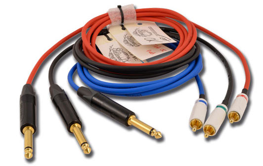 ELEKTRONINK Clip-cord THE PATRIOT Luxe Jack 6,35 droit RCA droite