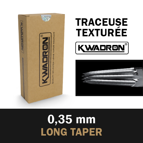 KWADRON Traceuse st�rile, Aiguilles TEXTUREES � 0.35mm, Long Taper, b