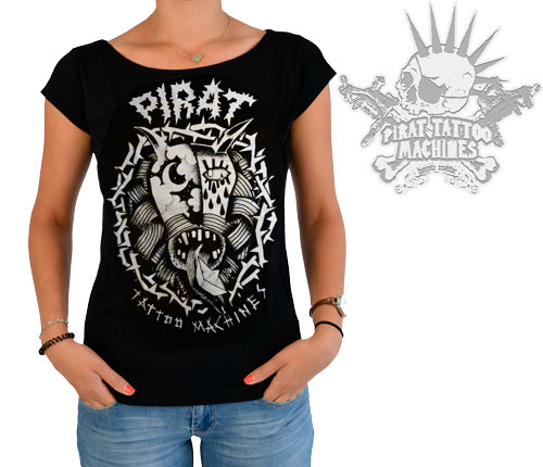 iTC Tattoo et Piercing - Tee-shirt PIRAT DEVIL design by L.Sokolowski  modèle Femme