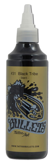 Encre BULLETS st�rile, coloris BLACK TRIBE #31 - 0i527
