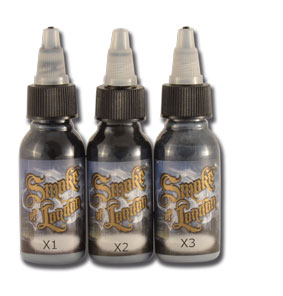 iTC Tattoo et Piercing - Encre PANTHERA, stérile, Set de 3 nuances LONDON SMOKE en 30ml