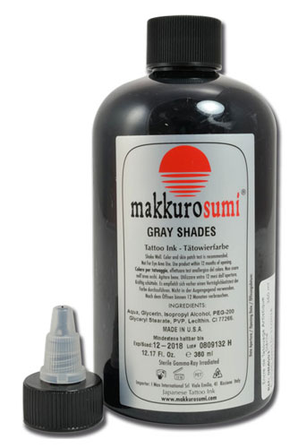 iTC Tattoo et Piercing - Encre st�rile Makkuro Sumi. Gray Shades. 360ml