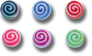 iTC Tattoo et Piercing - Lot de 5 boules acrylique spirale
