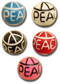 Boules acryliques Peace and love