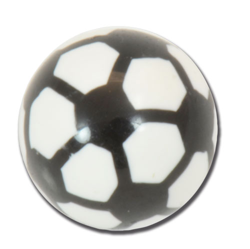 iTC Tattoo et Piercing - LOT DE 5 Boules acryl. motif ballon de football