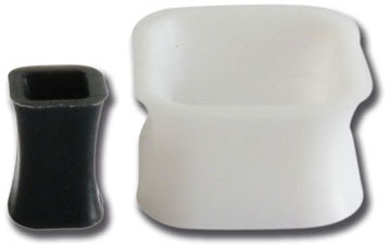 iTC Tattoo et Piercing - Plug souple silicone carré