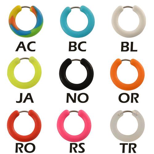 Boucle d'oreille silicone - PP67