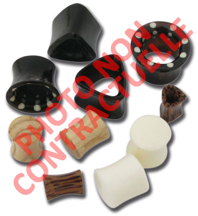 iTC Tattoo et Piercing - Lot de 10 plug corne et os 6 à 14mm