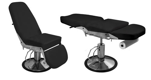 iTC Tattoo et Piercing - Fauteuil � commande hydraulique 2 accoudoirs anat. pieds ind�pendants
