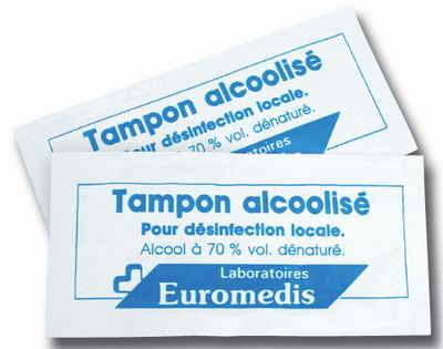 iTC Tattoo et Piercing - Tampon alcoolis� � 70%